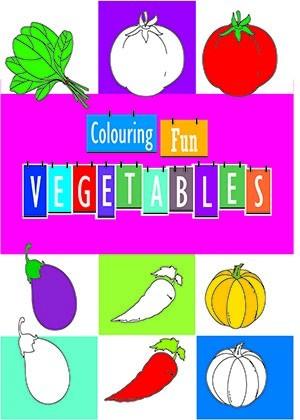 Colouring Fun - Vegetables